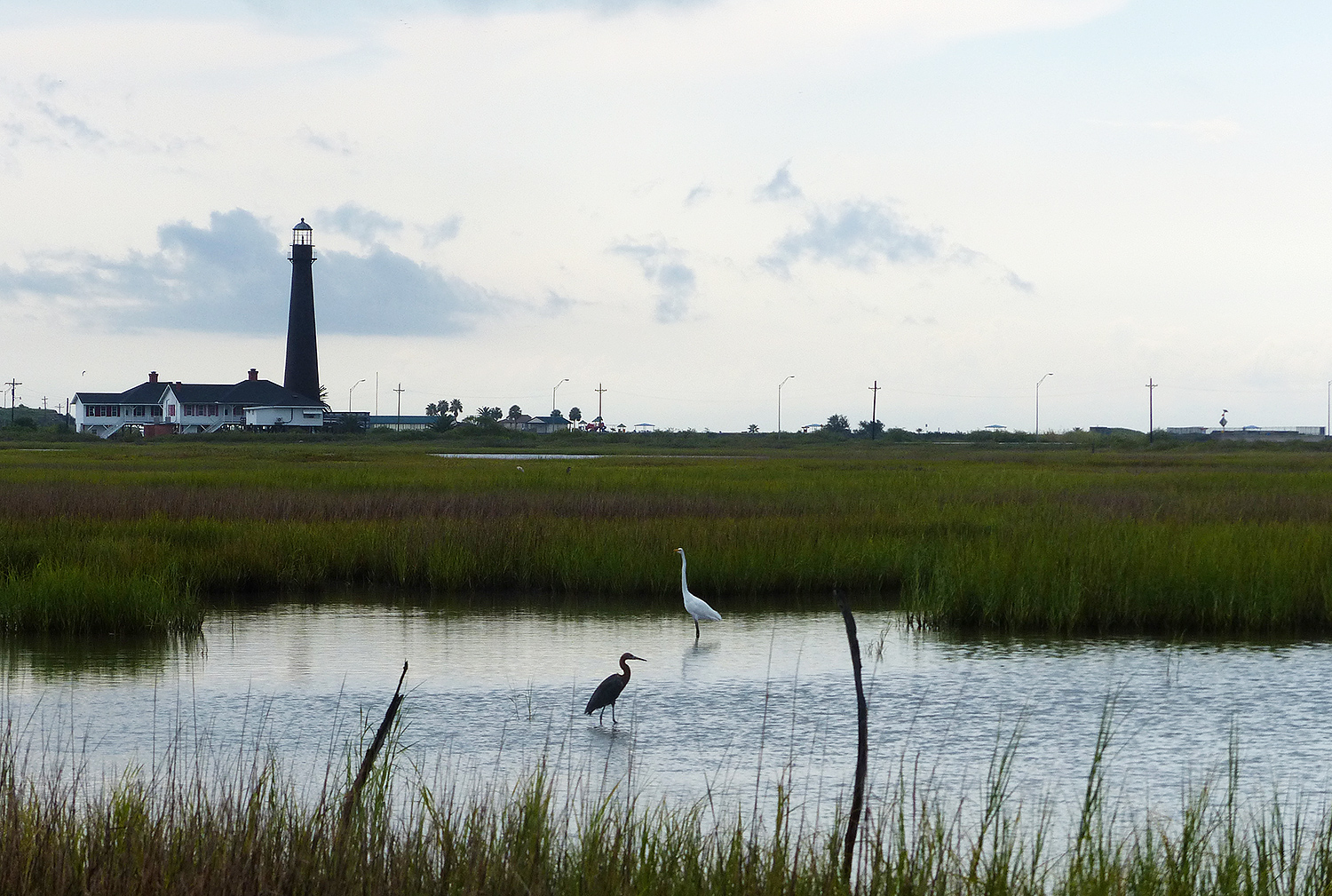 Bolivar Flats with lighthouse