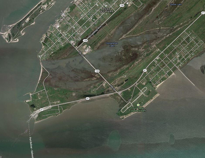Bolivar Peninsula - This is the area we are going to explore.