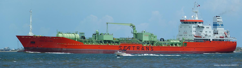 Ship passing Texas City Dike