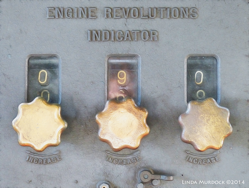 Engine Revolutions Indicator (Fractalius and Oil Paint)