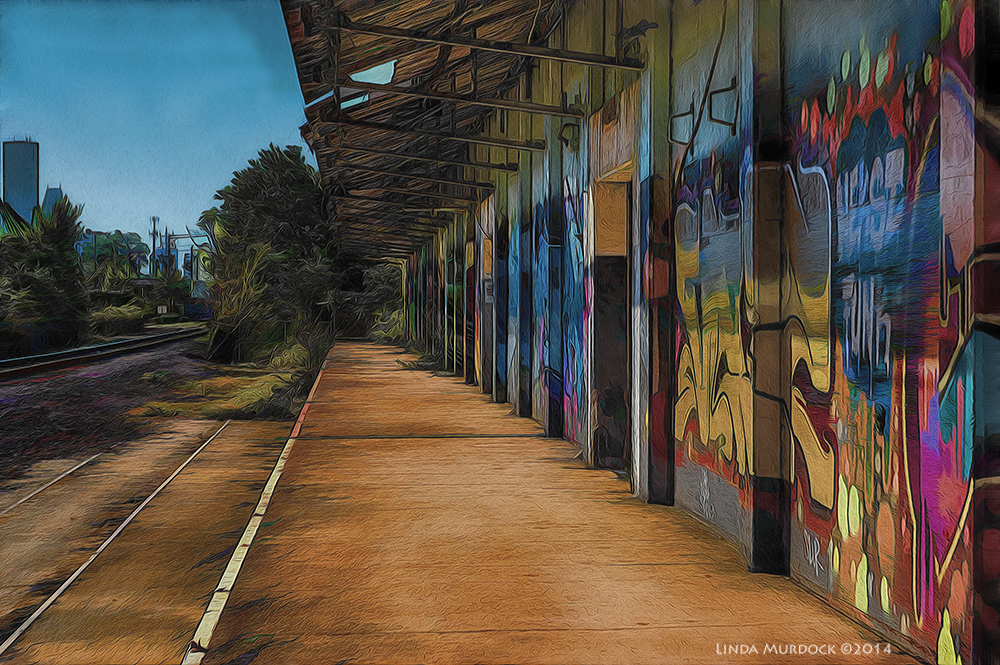 Decades ago, the train stopped here for bags of Comet Rice    Sony A77 II with 16-50mm DT f/7.1 ISO 200 HDR with post-processing