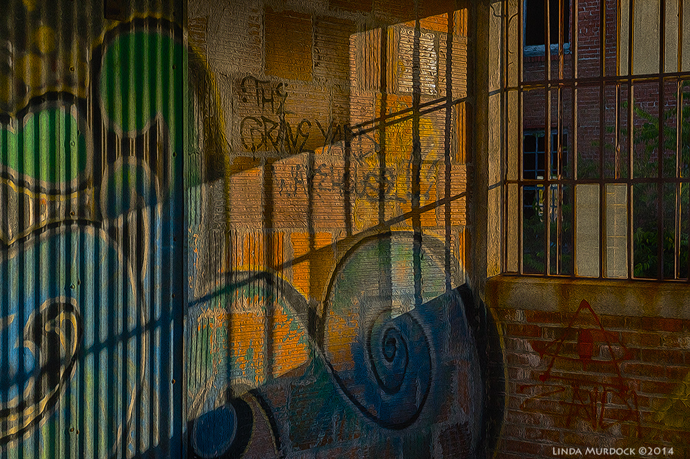 Shadows and textures and messages from beyond    Sony A77 II with 16-50mm DT f/5.6 ISO 800 HDR