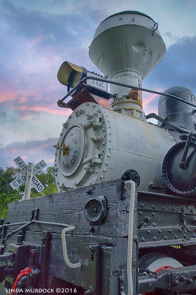 Texas City train with sunset sky from another time and place Sony A77II with Sigma 10-20mm f/3.5 ~ HDR