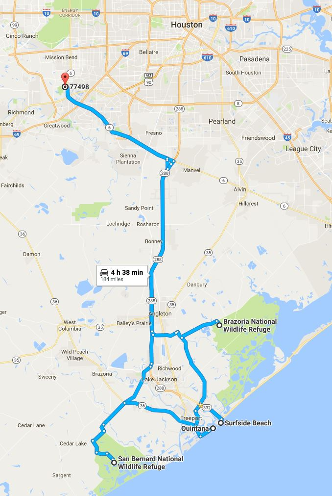 Potential route for Sunday - Google maps; click to embiggen