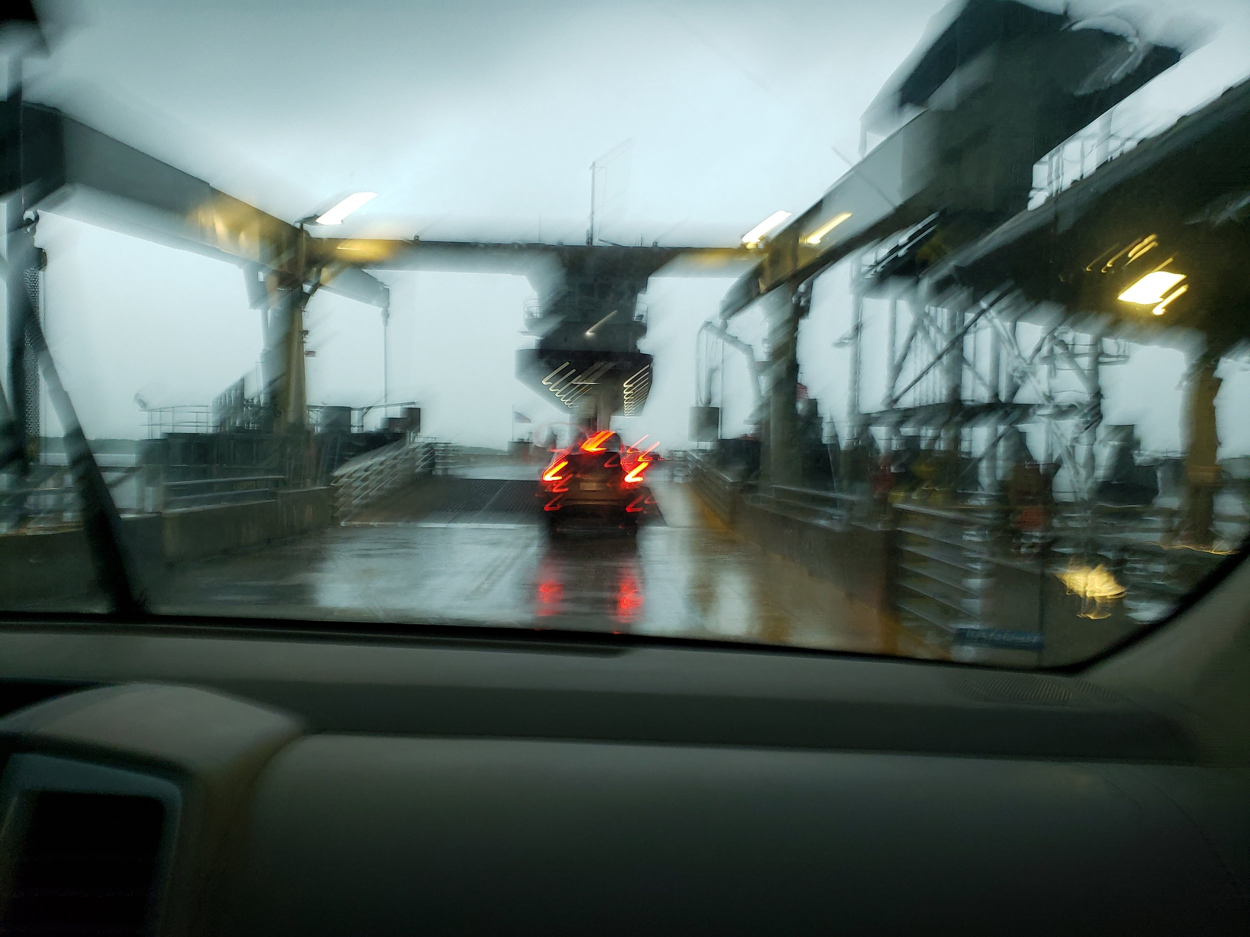 Getting on the ferry