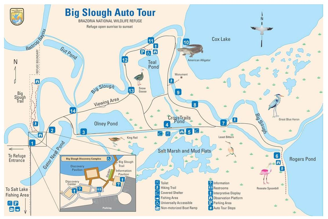Map of the refuge auto tour