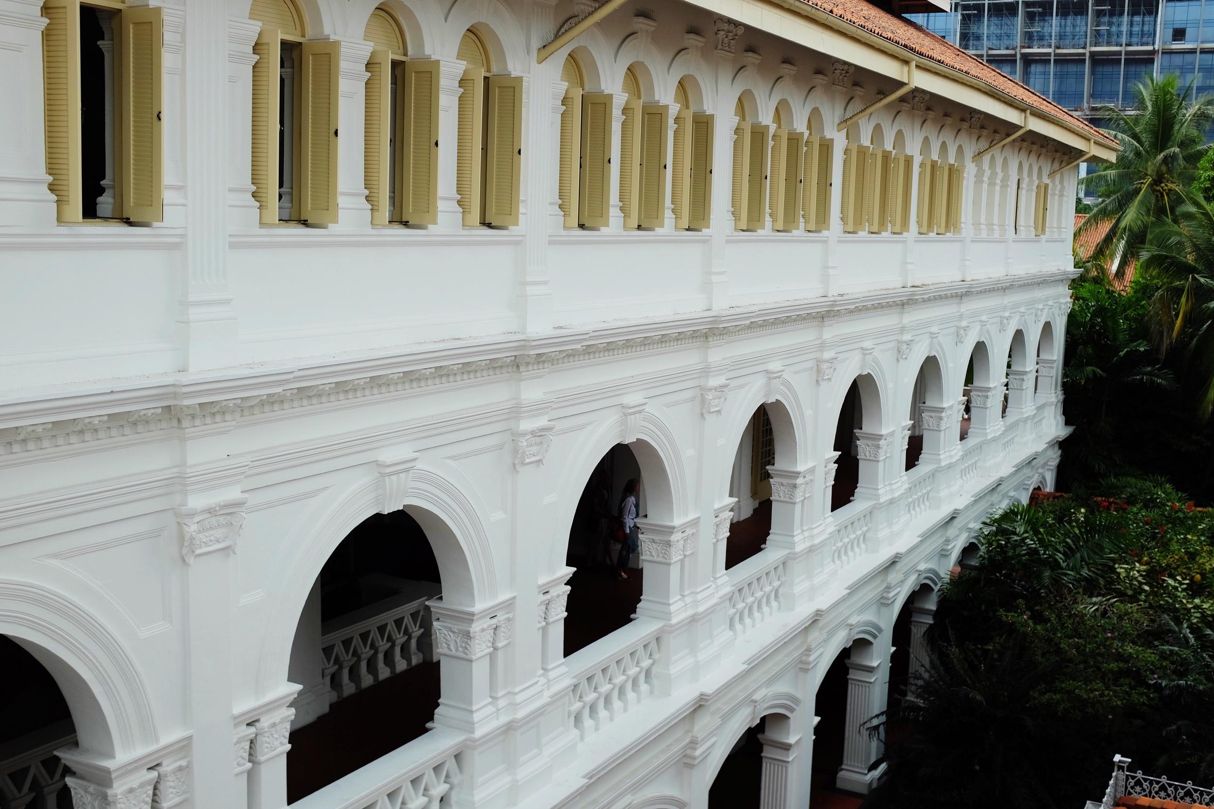 Three floors of arcades