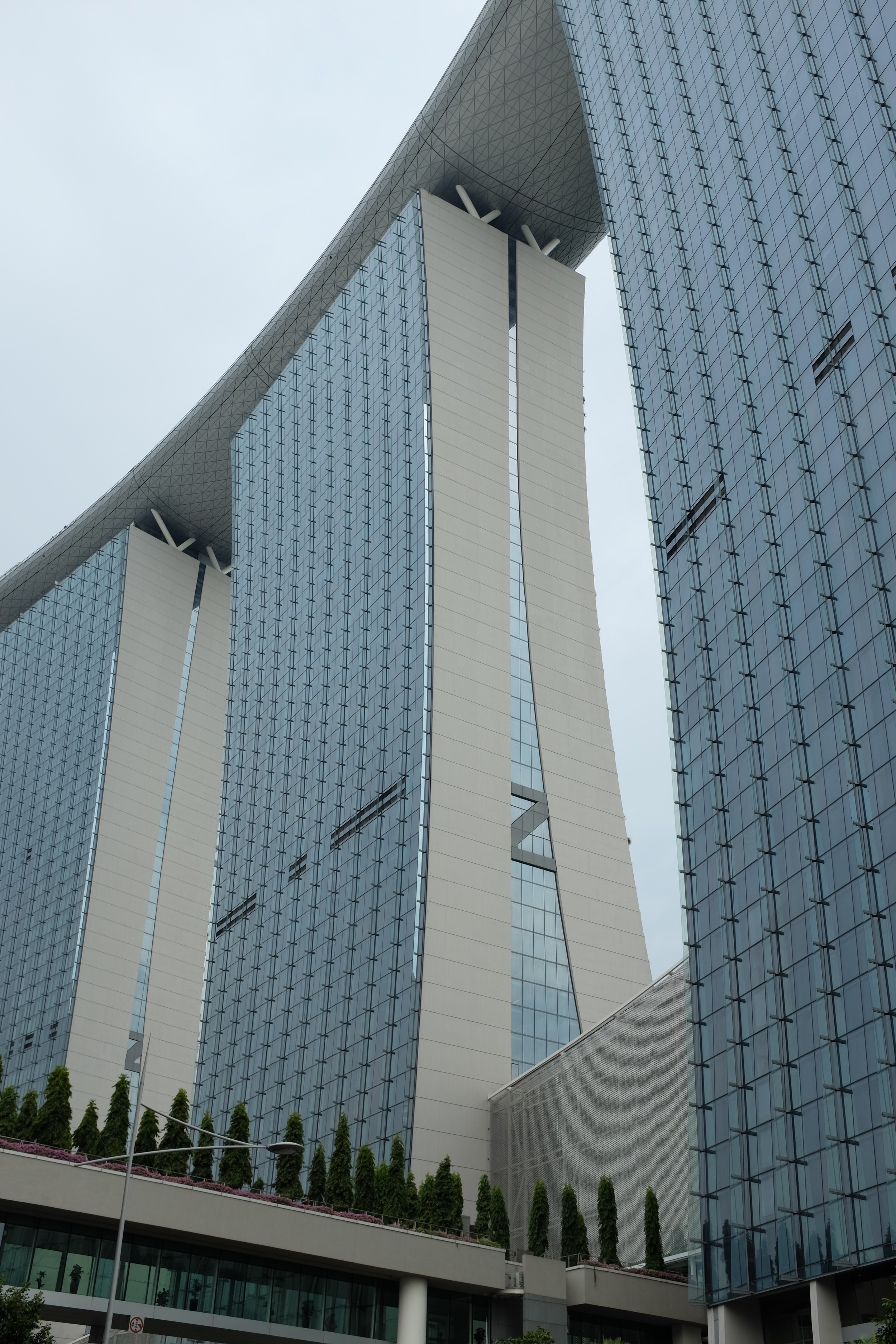 The three hotel towers