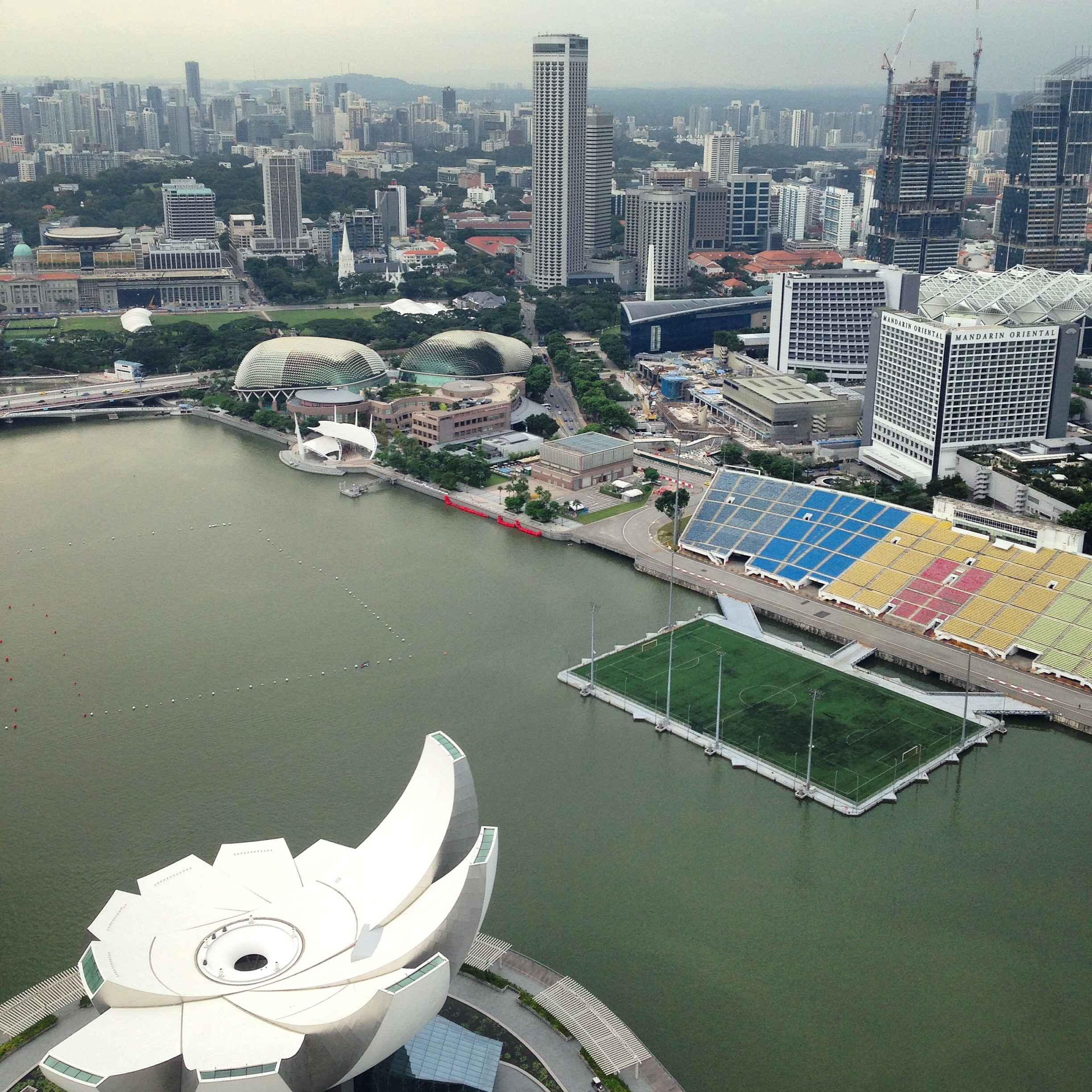 The Amphitheater in front of the Marina Bay Sands