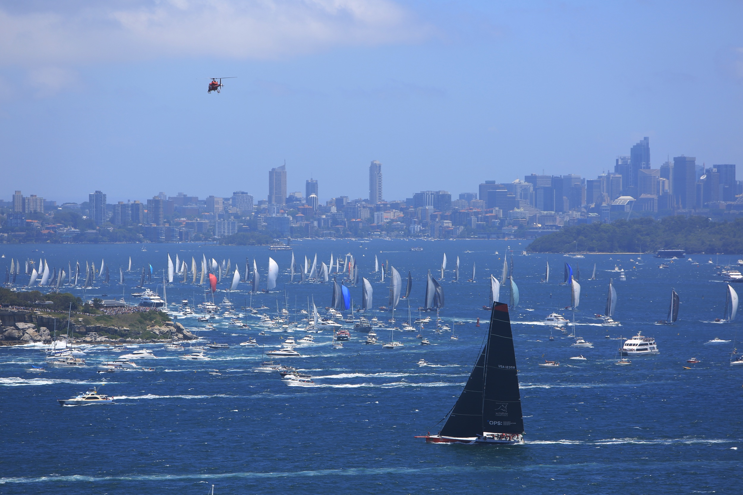 Sydney to Hobart 2014: 100 footer supermaxi Comanche. Photo by  Gino Nalini