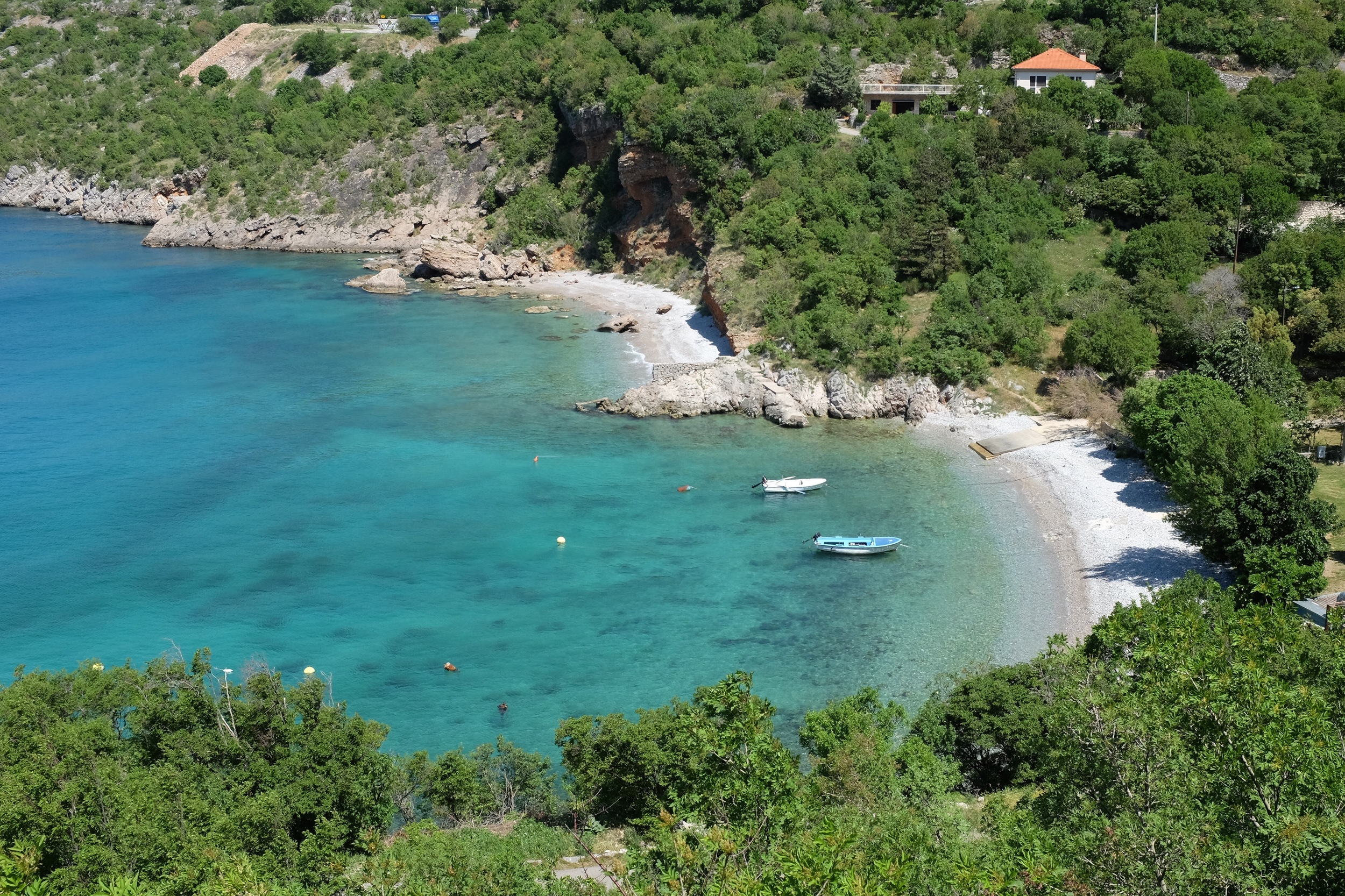 A hidden bay in Croatia