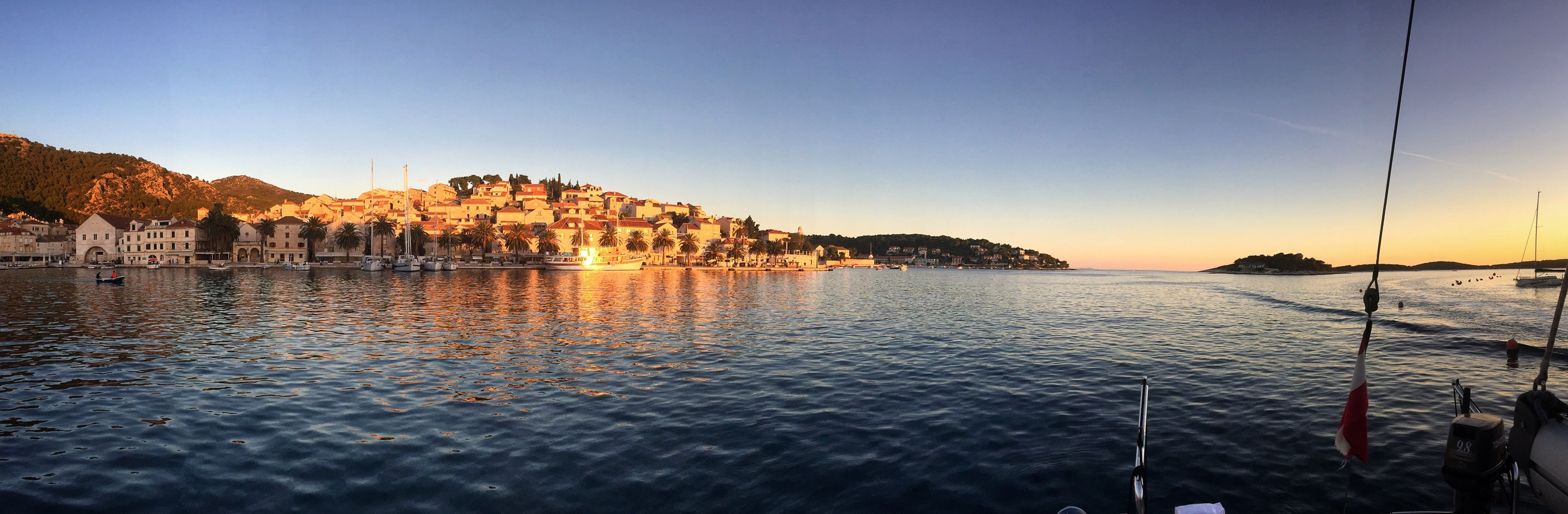 Hvar at sunset