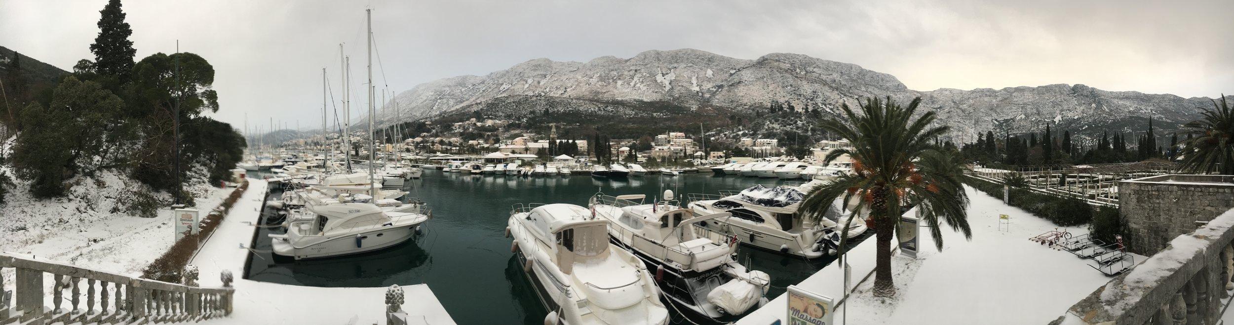 Panorama of the Marina Dubrovnik.