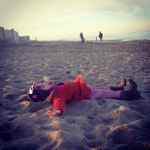Spontaneous beach adventure with Ellie..