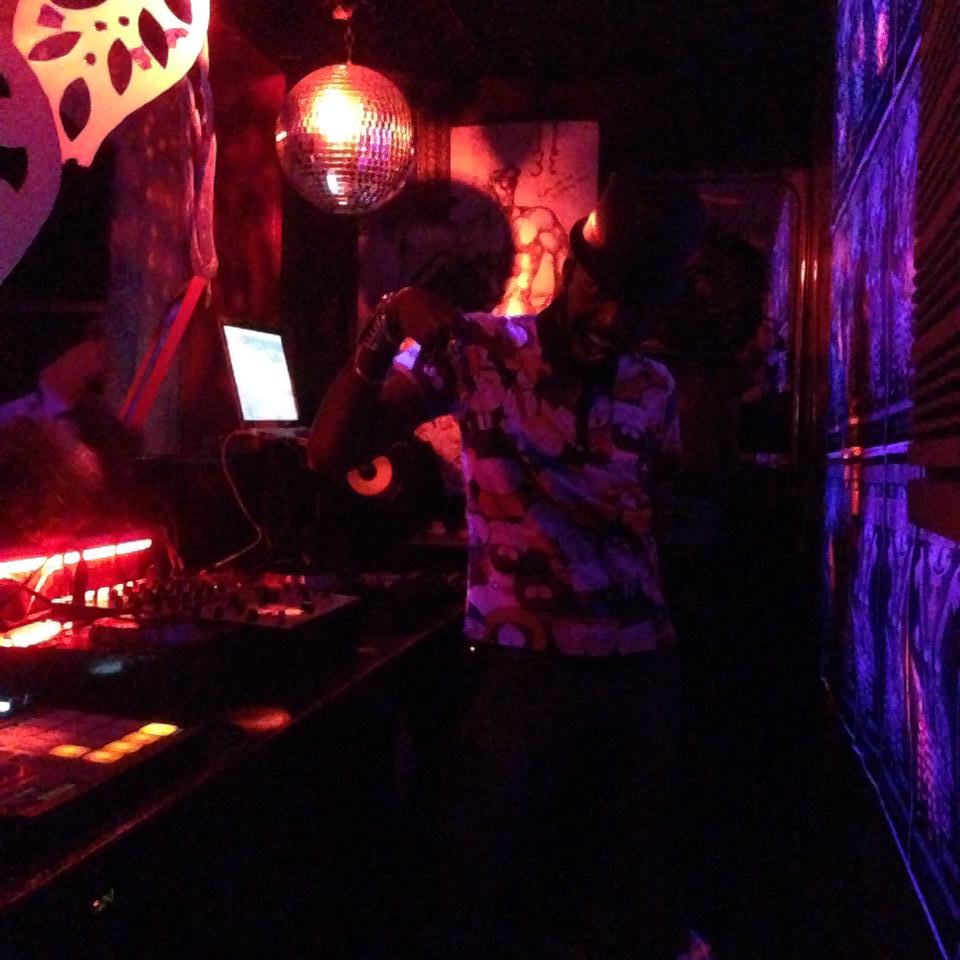 crazy dj at a club in east village! man he had so much energy!!!!