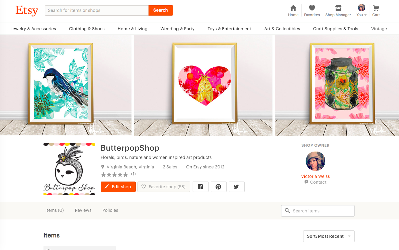 Butterpop Etsy Shop is has been launched!  Lots of new categories happening, and excited about the research and sources I have been learning to get this all SEO the right way..