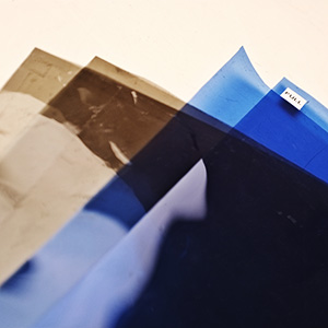 Neutral density gels and CTB gels.