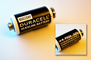 Classic 40 year old Duracell 3V PX24 battery