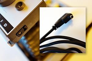 The Polaroids flash mount reveals a Post connection