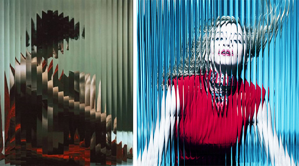 I'm sure we all remember the Madonna Album cover from a few years ago (right hand image). This was shot by Mert and Marcus but they copied the fluted glass effect from Erwin Blumenfeld's 1943 portraits (left hand image). Personally I have a lot of respect for the nerve it must of taken to even suggest the technique for an album cover for a mega star like Madonna. Conversely, respect is also due to Madonna for choosing to go with it. For somebody whose self image is as iconic as hers, it was certainly a bold decision to then distort it. Also note the distinctive saturation that is present in the Mert and Marcus image, a style choice that is always present in their work.