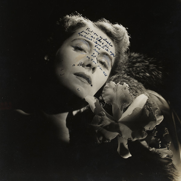Many of Horst's images would undergo extensive retouching. Here we can see the notes for the retoucher to go over. From accentuating eyelashes, adding makeup and lightening lines and wrinkles everything was made perfect before it made it to the pages of Vogue.  Image: Conde Nast/Horst Estate