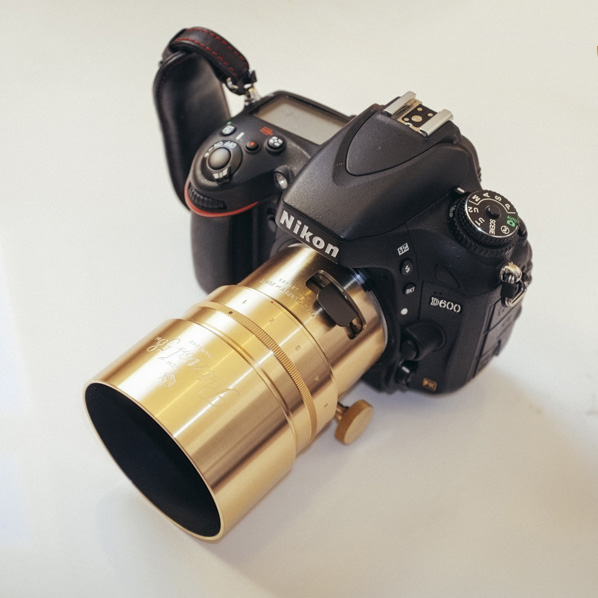 The brass version Petzval 58 on my Nikon D600