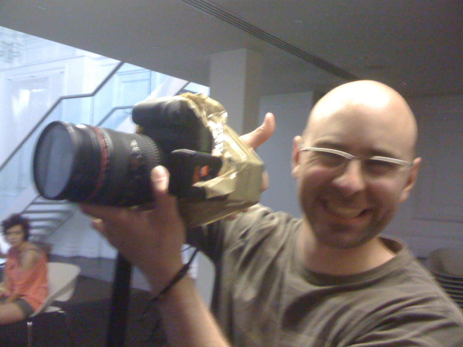 """Whether you decide to purchase flash triggers or not, make sure you have a backup plan. Look at this guy, he apparently """"FIXED"""" my flash trigger on the day with some parcel tape. We looked super pro in front of the client on that day ;)"""