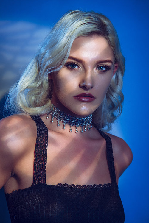 We mixed in some gobos with gels with our first hard and soft lighting setup.