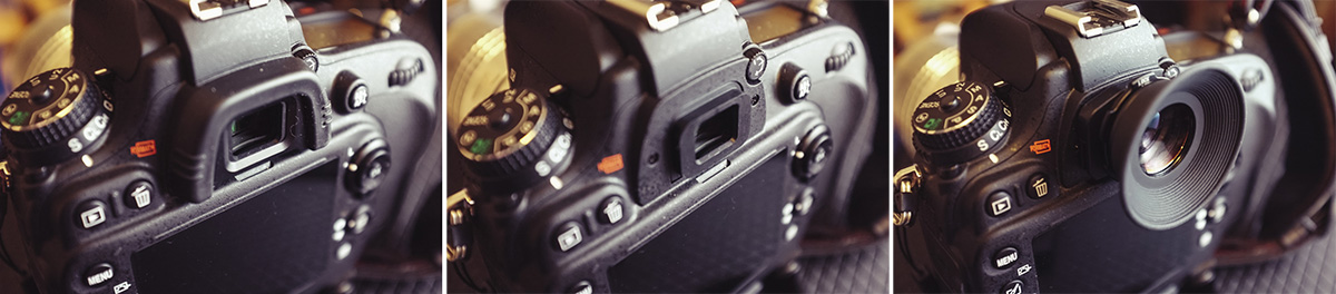 Simply remove your old viewfinder eyecup and replace it with the newer magnifying one.