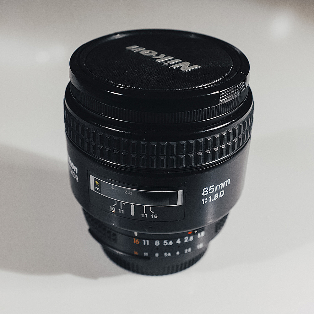 My Nikon 85mm 1.8 prime lens was the lens I used for testing the visual difference between the Edge 80 and a 'standard' 85mm.