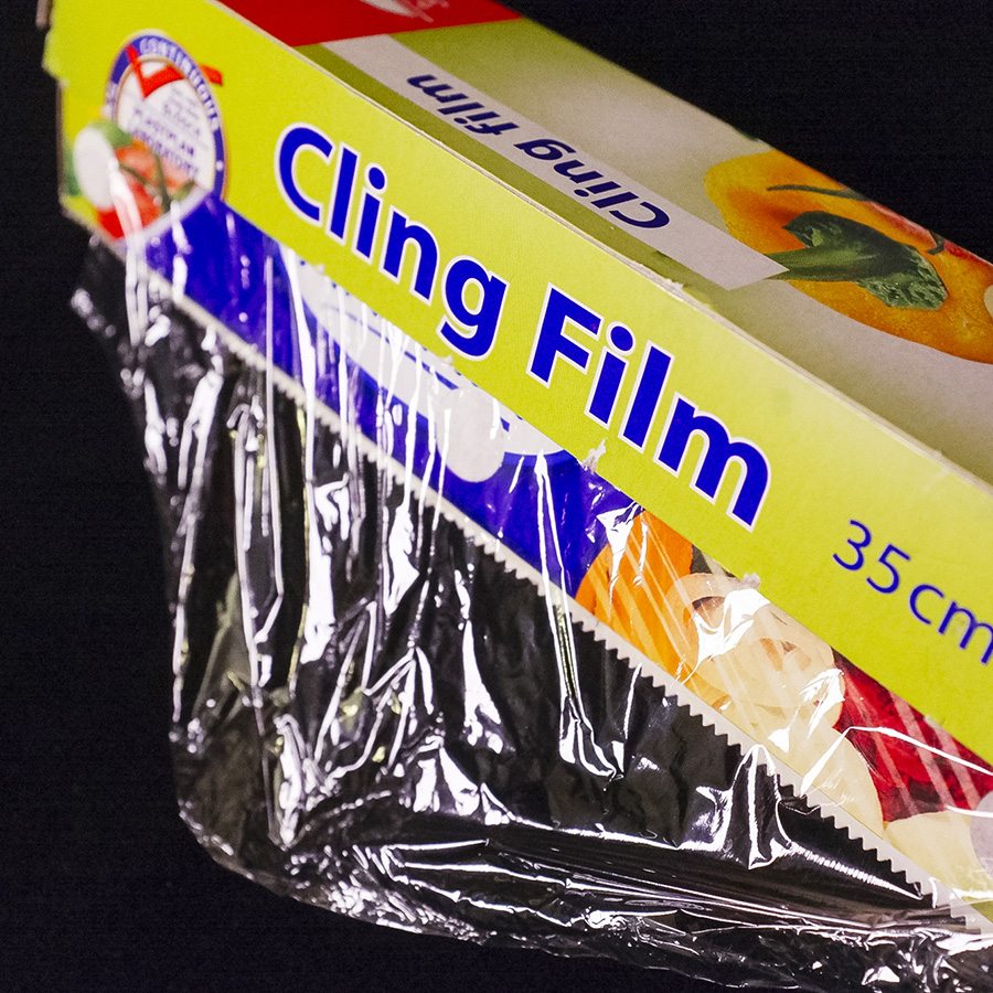 Cling film is very cheap and can be bought in nearly every supermarket and other food shops.