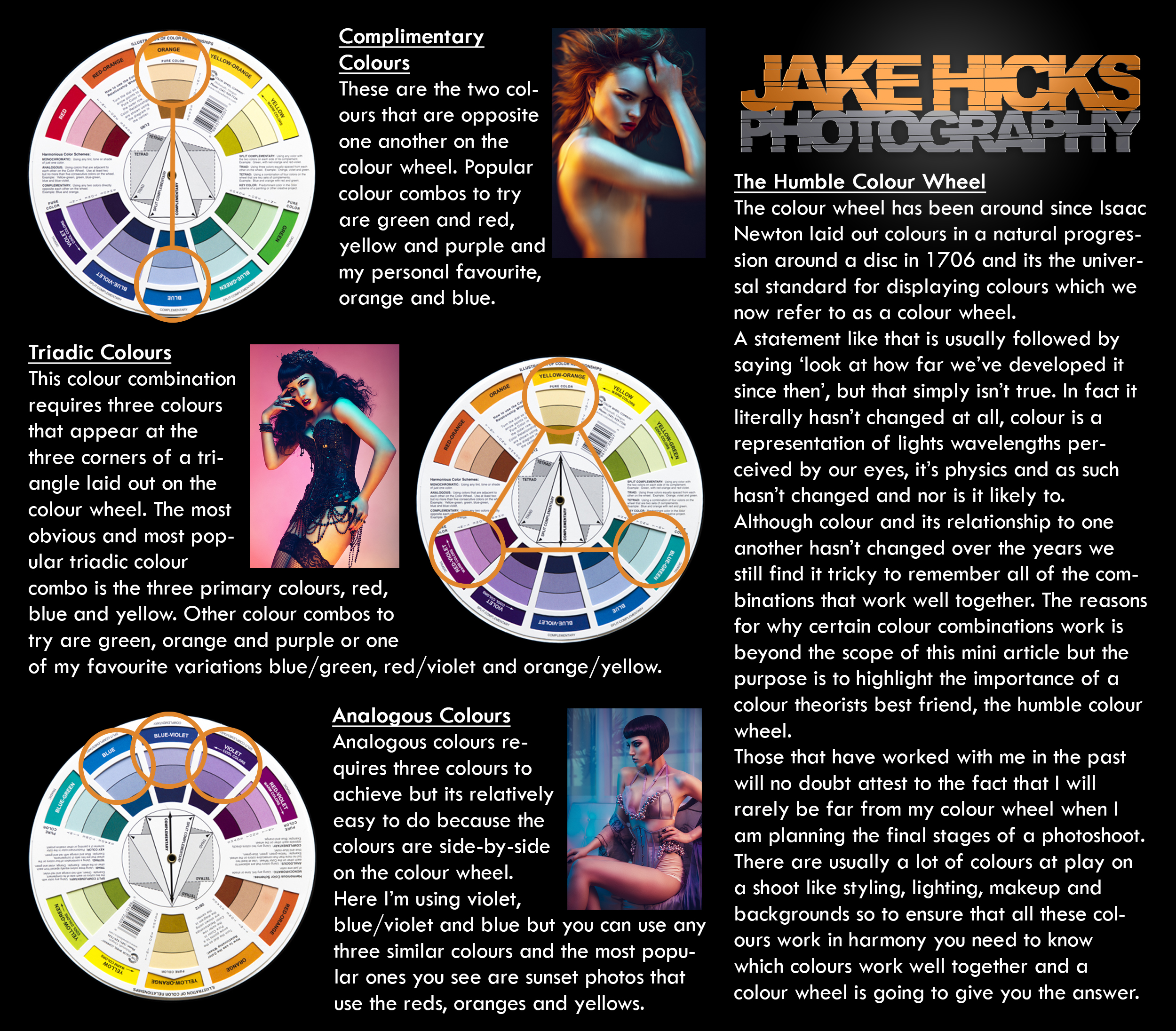 Click to enlarge.  The painters colour wheel theory