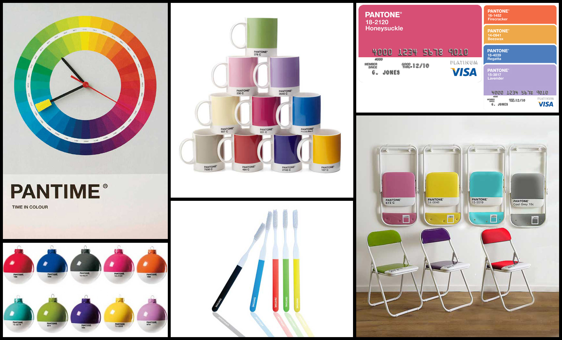 Pantone as a brand has to assert their dominance as the global director of colour. They invented the language now they have to ensure that they are known for being the voice of colour predictions. One way to do that is to make colour cool and using everyday objects their vehicle to deliver that message. Clocks, chairs, even toothbrushes and baubles, all of it is a reminder that they are the powerhouse of colour. (I do actually really want that clock).