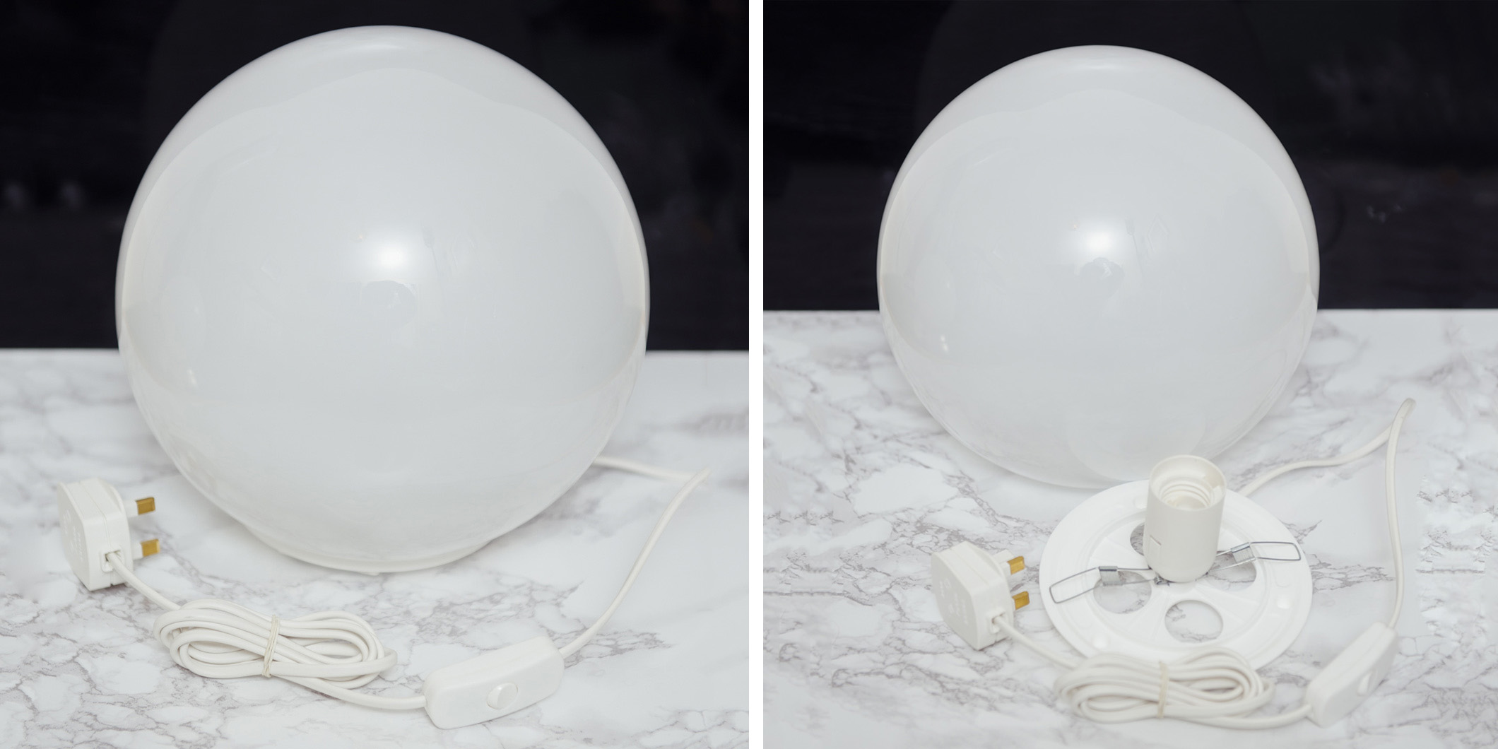 Large table lamp dome.