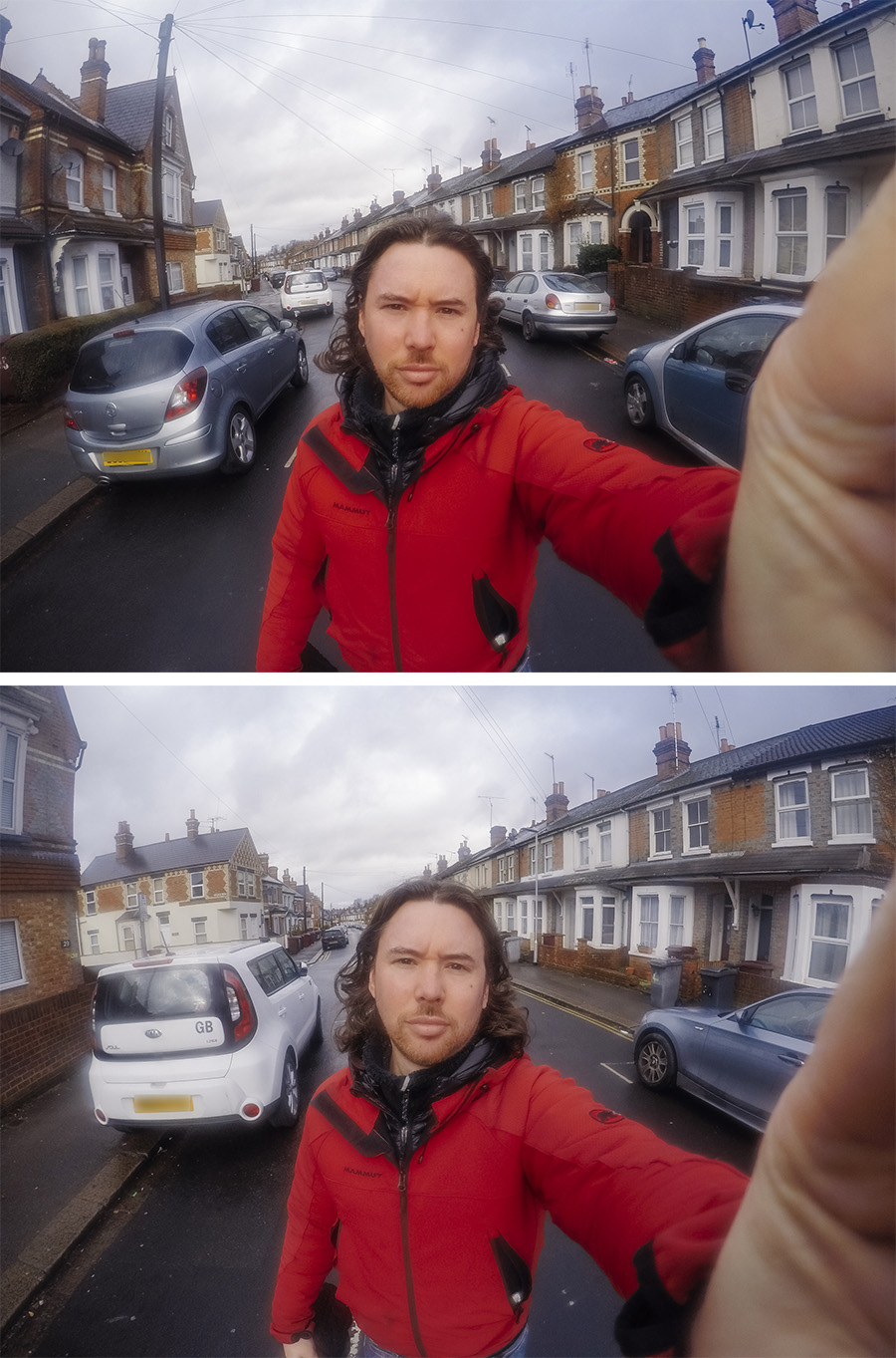 Raw GoPro Hero6 shots taken WITH ring light attached.