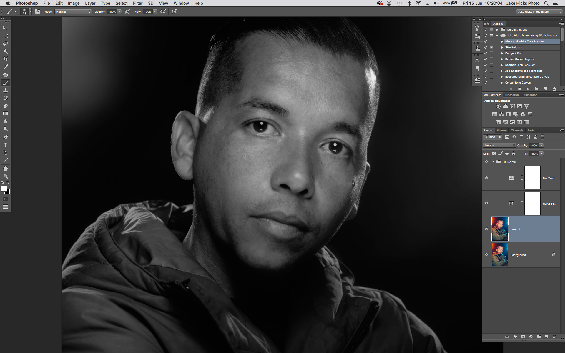 Un-retouched image with check preview layers added.