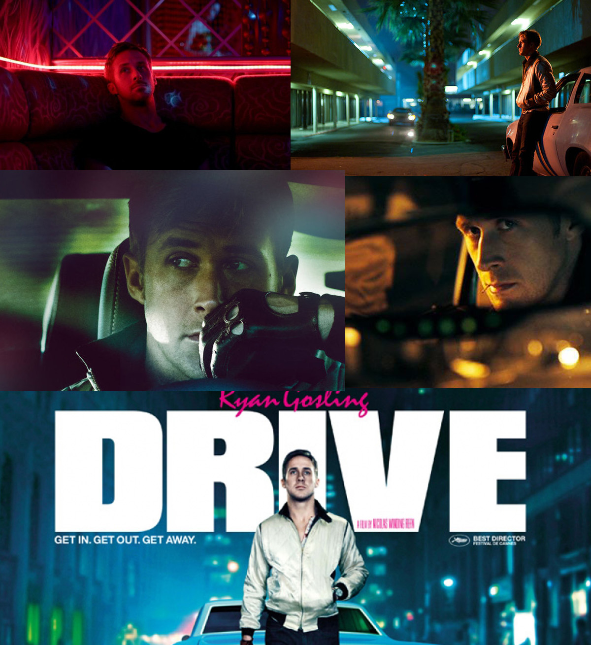 Drive, a movie directed by Nicolas Winding Refn is one of the most visually powerful films in recent history. Nicolas Winding Refn use outstanding colour palettes to tell his story.