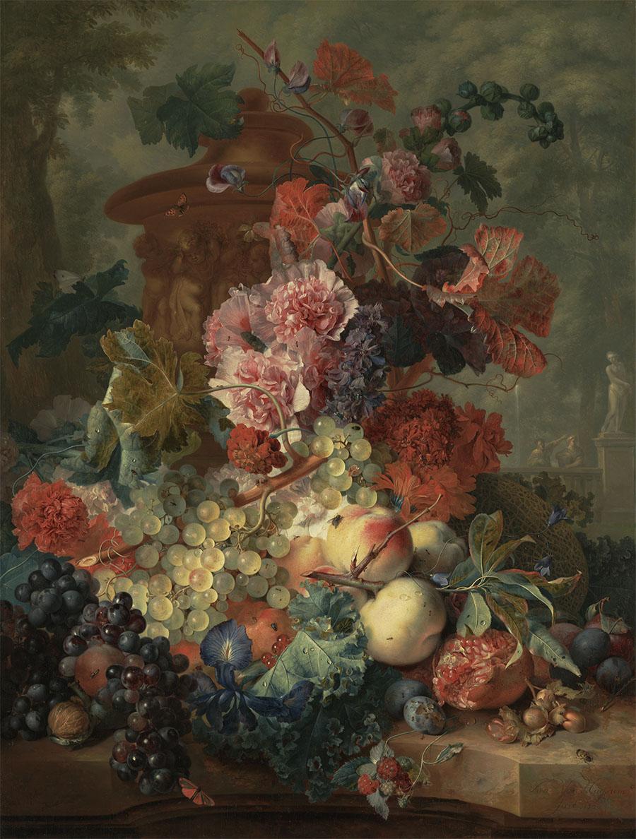 Click to enlarge - 'Fruit Piece' by  Jan van Huysum  1722