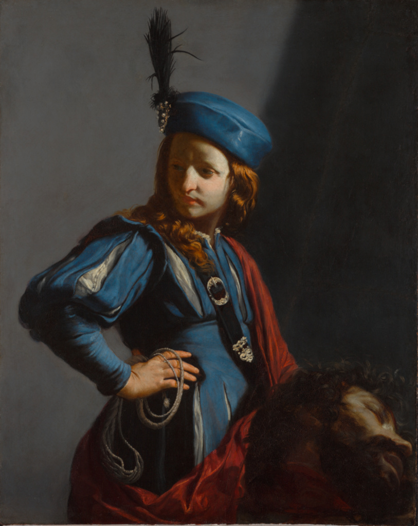 Click to fill screen - 'David with the Head of Goliath' by  Guido Cagnacci  in 1645