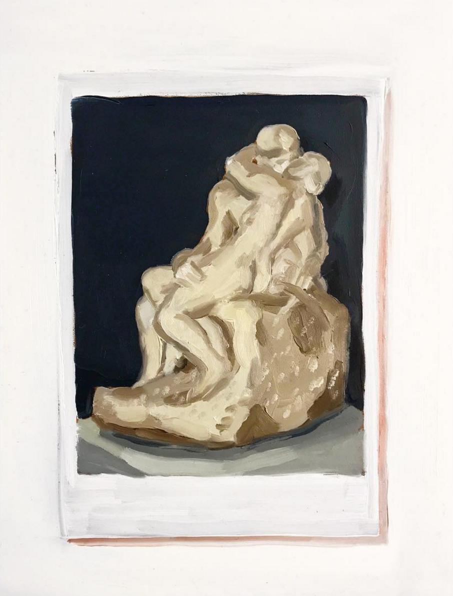 "Postcard of Rodin's ""The Kiss"""