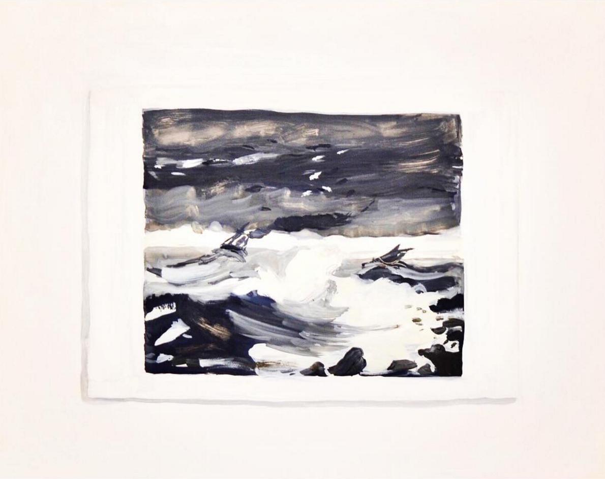 """Postcard of Peder Balke's """"The Tempest"""""""