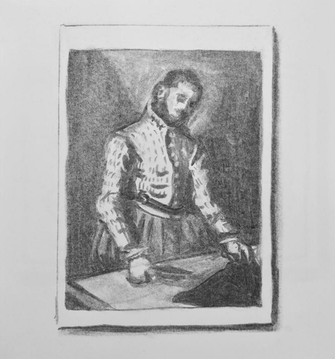 """Postcard of Giovanni Battista Moroni's """"The Tailor"""""""