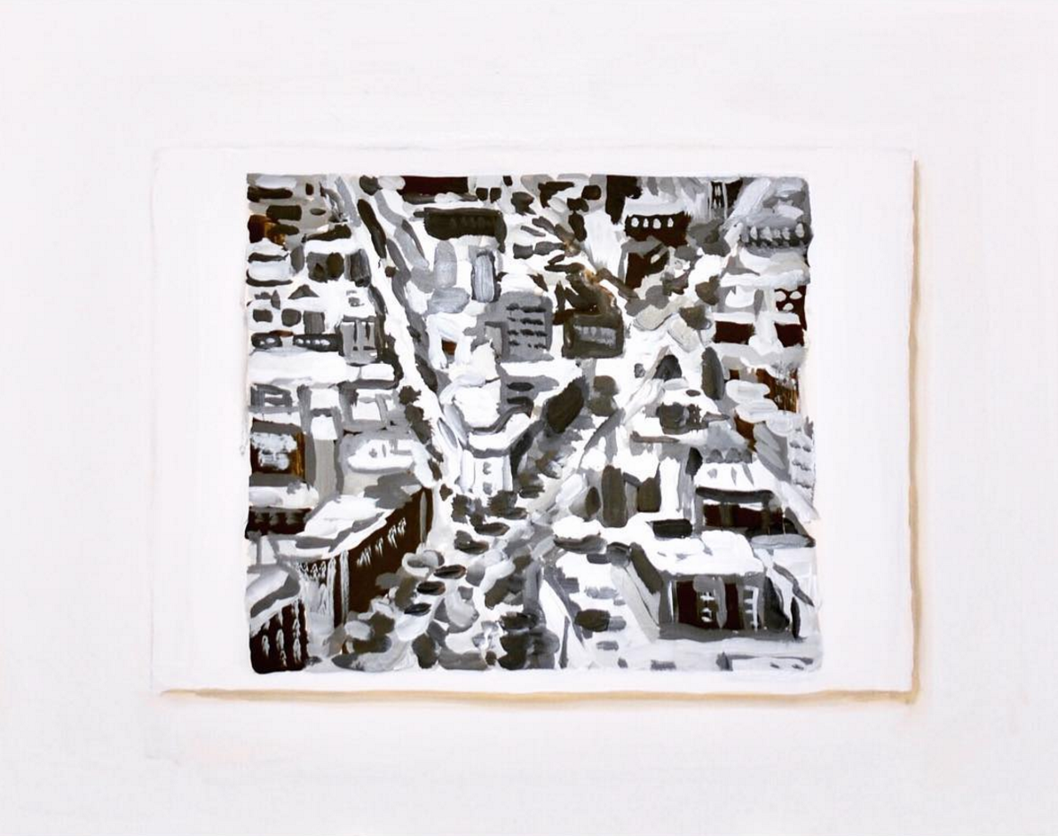 "Postcard of Richter's ""Stadtbild Madrid"""