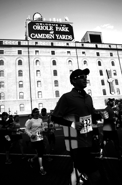 Runners participate in the 4th annual Trick-or-Trot 5K at Oriole Park at Camden Yards in Baltimore, Md. on Nov. 2, 2013.