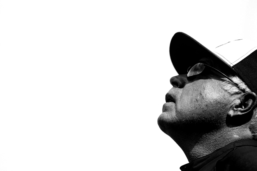 Baltimore Orioles manager Buck Showalter looks up between innings during a MLB game against the Seattle Mariners in Baltimore, Maryland at Oriole Park at Camden Yards on August 3, 2014.