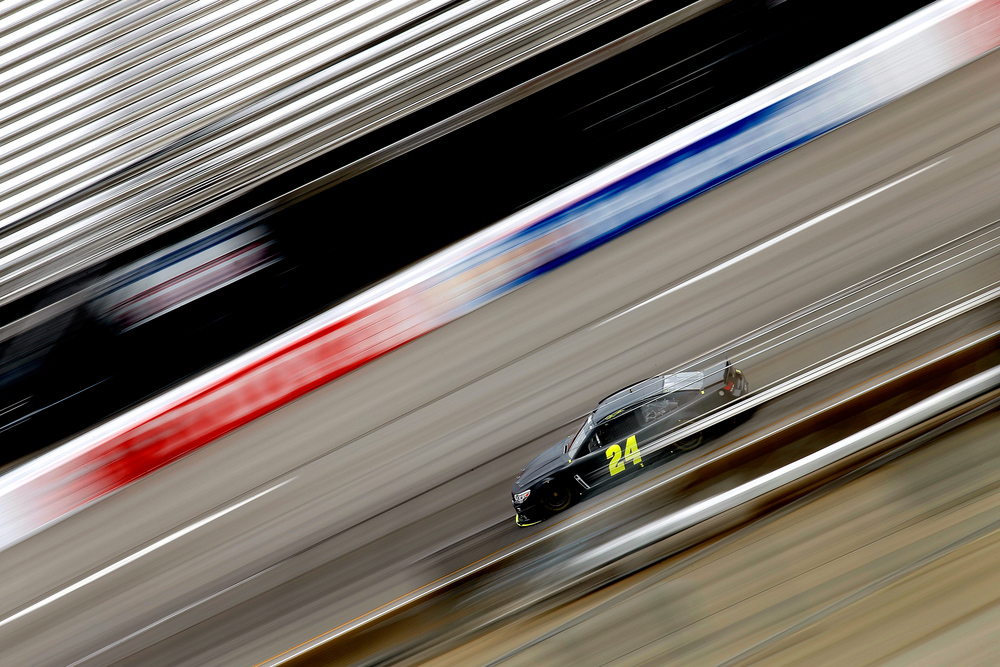 Jeff Gordon, driver of the #24 Panasonic Chevrolet, drives on the track during NASCAR testing at Richmond International Raceway on June 17, 2015 in Richmond, Virginia.