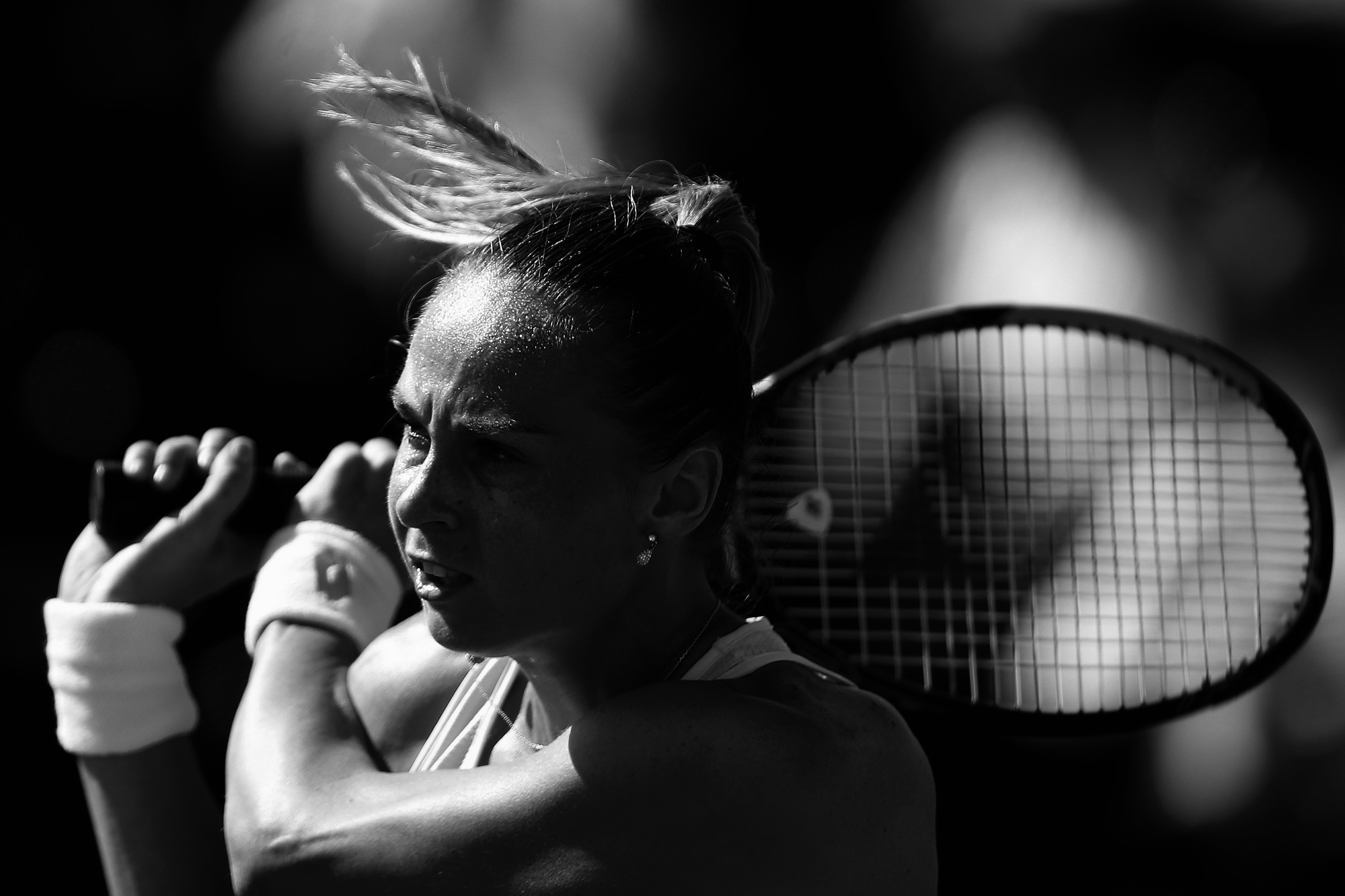 Magdalena Rybarikova plays Laura Robson in Womens Singles First Round in Stadium 4 at the Indian Wells Tennis Garden in Indian Wells, California Thursday, March 10, 2016.