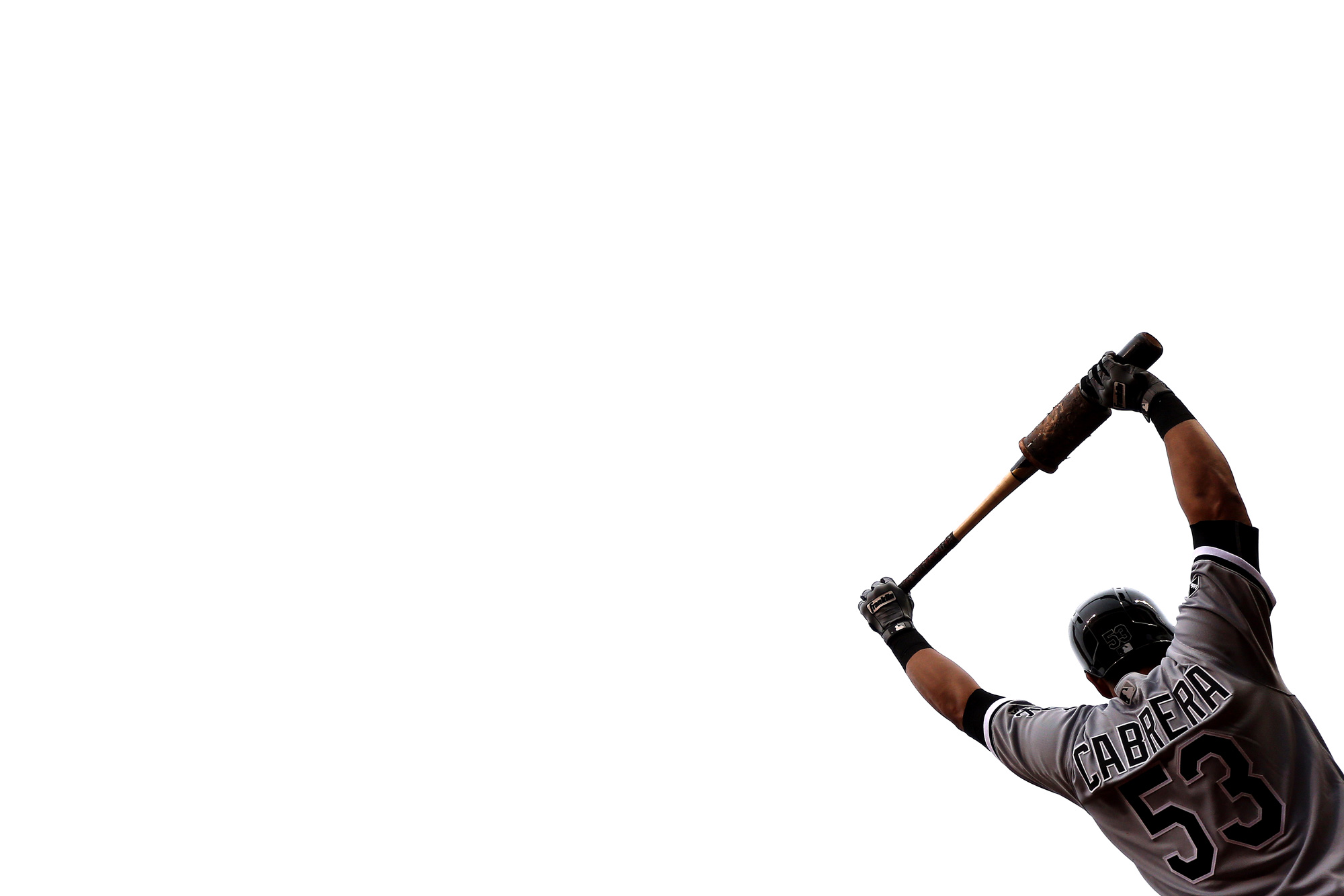 Melkey Cabrera #53 of the Chicago White Sox waits in the on deck circle during a game against the Baltimore Orioles at Oriole Park at Camden Yards on May 1, 2016 in Baltimore, Maryland.