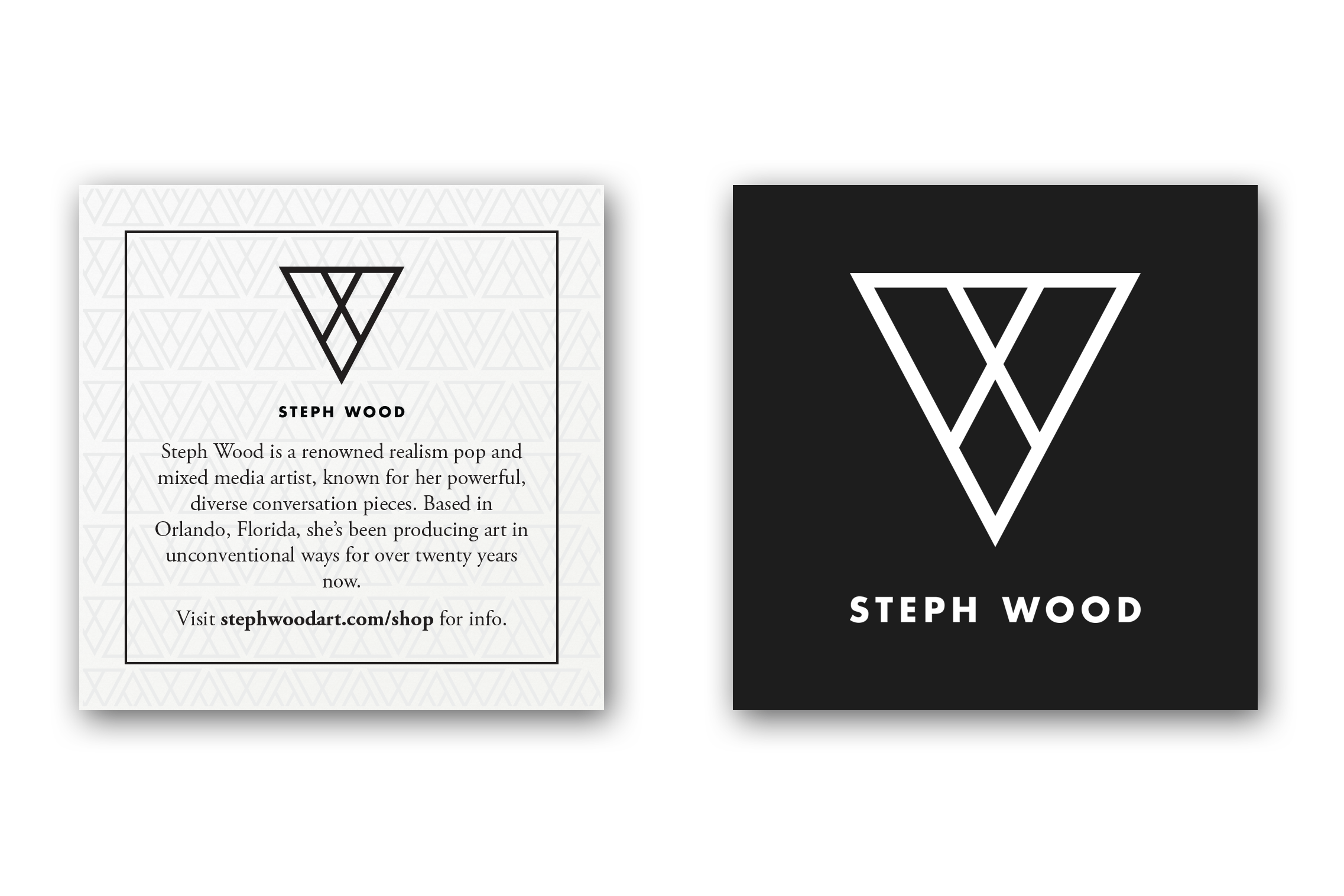 Steph Wood Authenticity Cards for art galleries