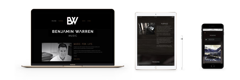Benjamin Warren Music Responsive Website Design